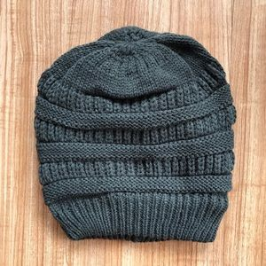 Accessories - Gray Slouch Beanie